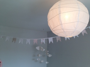 Bunting, Clouds & Paper Lanterns